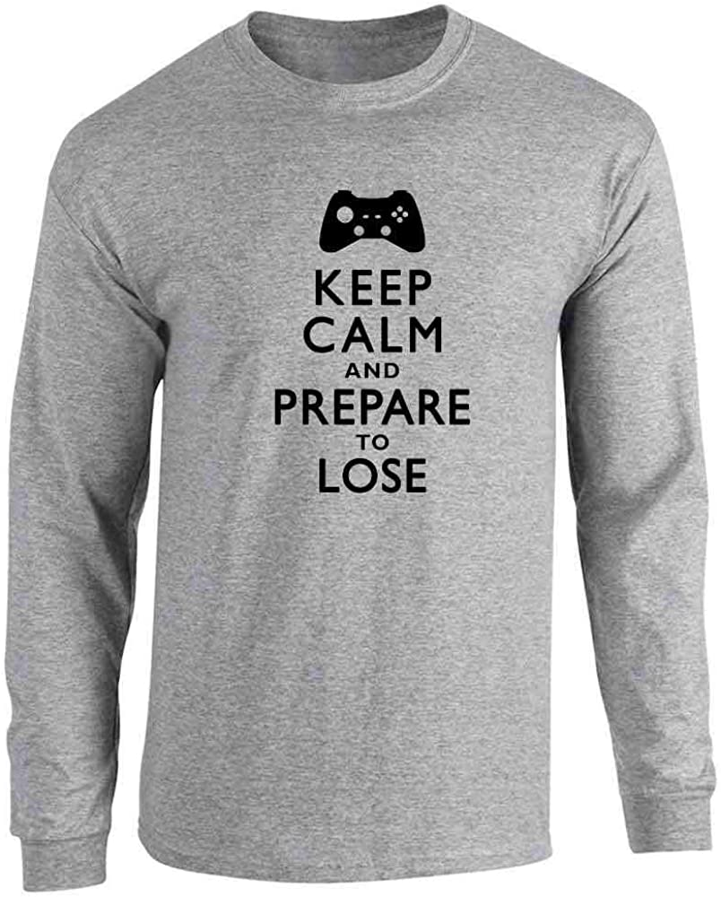 Keep Calm and Prepare to Lose - XB Gamer Sport Grey 2XL Full Long Sleeve Tee T-Shirt