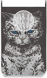 Panier à linge suspendu sac yeux bleus chat noir porte / mur / placard suspendu grand sac à linge panier pour organisateur...