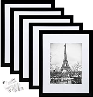 upsimples 11x14 Picture Frame Set of 5,Display Pictures 8x10 with Mat or 11x14 Without Mat,Multi Photo Frames Collage for ...