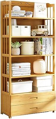 Amazon Com Homfa Bookshelf Rack 5 Tier Vintage Bookcase