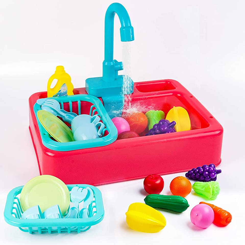 Eutionho Kitchen Sink Toys with Running Water Educational Gifts for Girls Boys