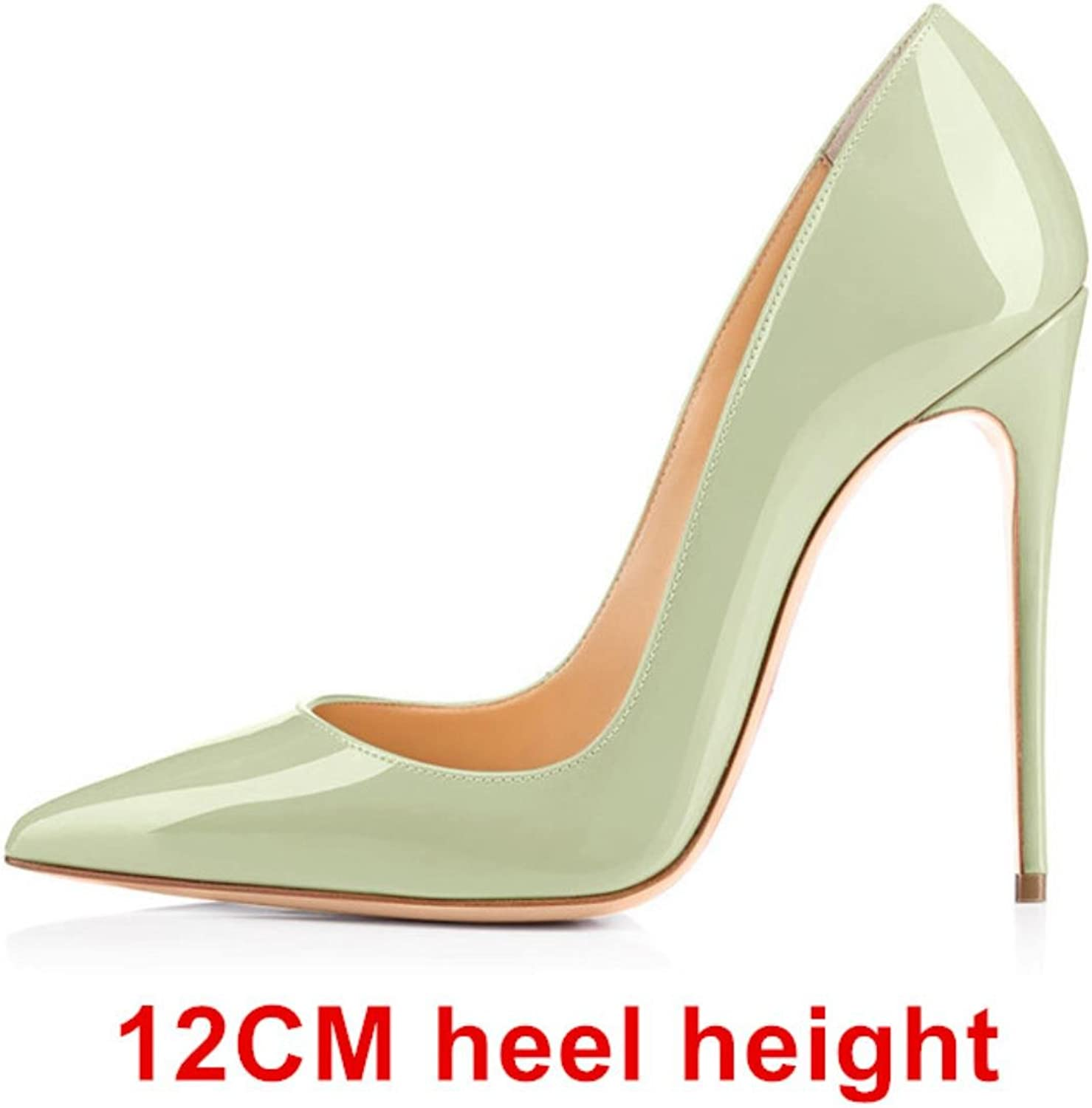 Woman 12CM High Heels Autumn shoes Women Pumps Patent Leather Sexy Women Heels Party shoes