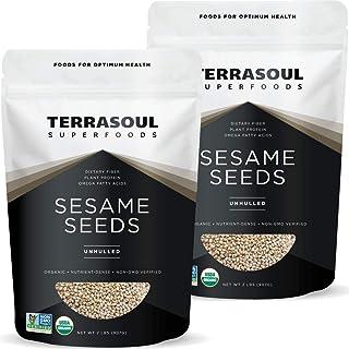 Terrasoul Superfoods Organic Unhulled Sesame Seeds, 4 Lbs (2 Pack) - Gluten Free, Raw, Keto Friendly