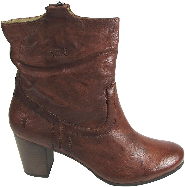 Frye Women's Carson Mid Heel Short Cognac Boot US 11 NIB