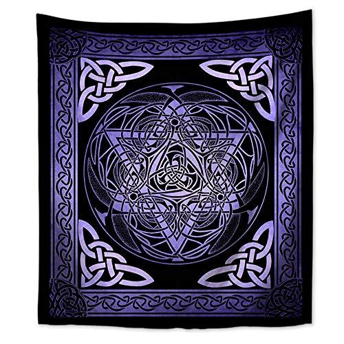 WholesaleSarong Celtic Pagan Interlace Knotwork Star of David Wall Tapestry 59 x 51 inch Nautical Home Decor