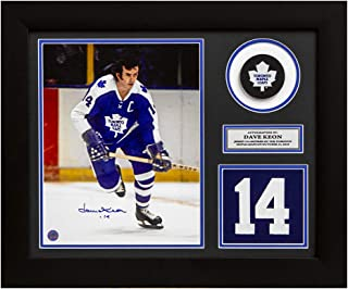 Dave Keon Toronto Maple Leafs Signed Captain Retired Jersey Number 24x20 Frame