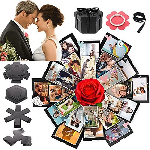Explosion Gift Box Set,DIY Photo Album Scrapbooking,DIY Scrapbooking Explosion Box for Birthday Anniversary Valentine Day Wedding