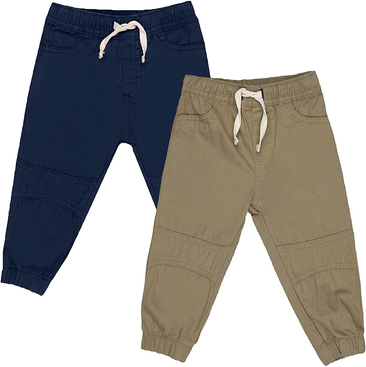 2-Pack Set Baby boy and Toddler - Canvas Jogger Pants - Clothes for Toddler and Kids