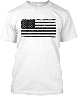 Distressed Black USA Flag - Patriotic Men's T-Shirt