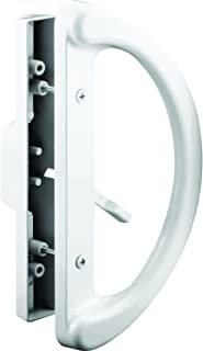 Slide-Co 143598 Sliding Patio Door Handle Set - Replace Old or Damaged Door Handles Quickly and Easily – White Diecast, Mo...