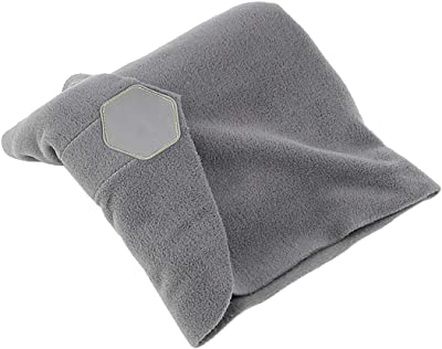 Uhruolo Super Soft Neck Support Travel Neck Pillow - Portable Comfortable and Breathable Nap Pillow for Airplane, Train, Car and Office Use,Gray