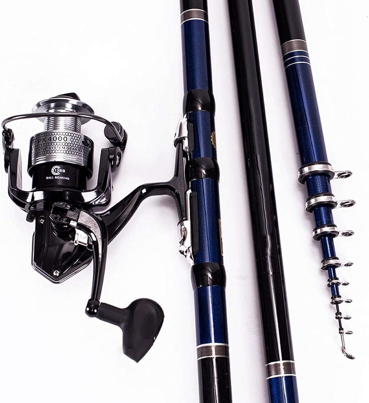 Angelrute - ultraleichtes super hartes weiches Fischen hart einstellbar Angelrolle Set Carbon Fine Paint Angelausrüstung (37 teilweise 28) (gre   5.4m)