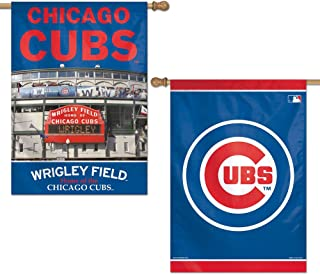 WinCraft MLB Chicago Cubs 47760013 2 Sided Vertical Flag, 28