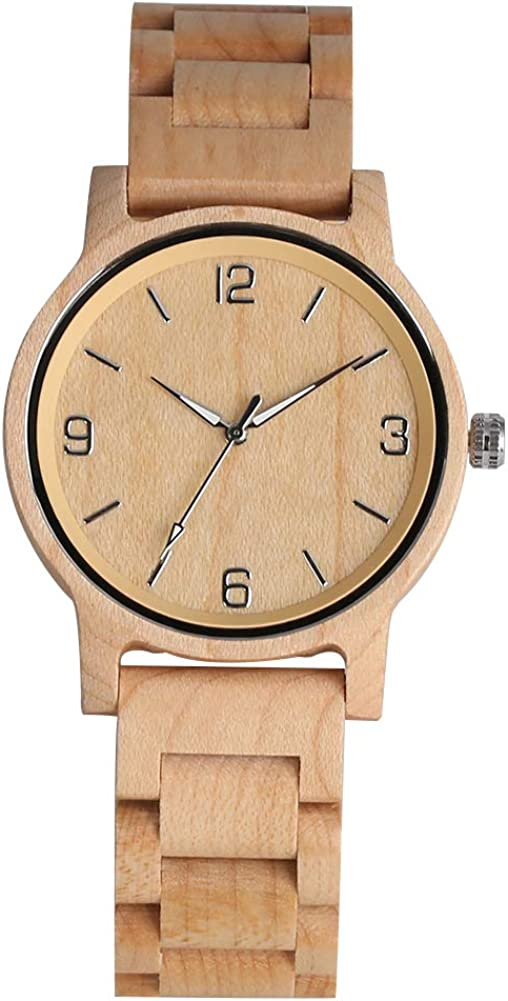 Classic Wooden Quartz Analog New popularity Challenge the lowest price of Japan Watches for Whole Women Handmade M