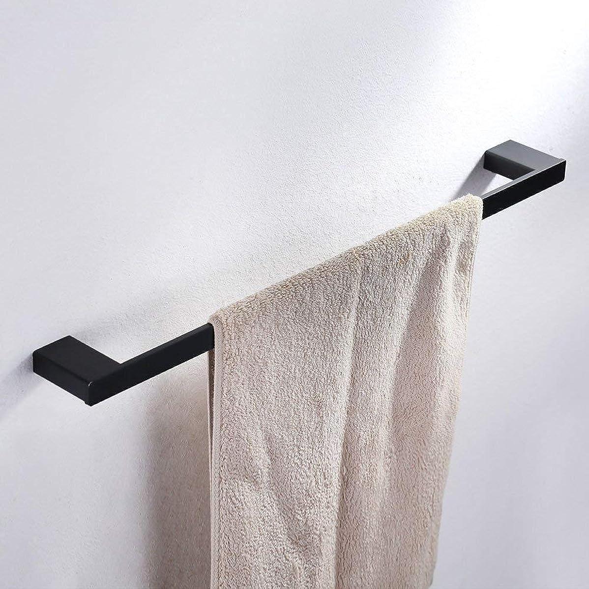 ヘビー変換接続タオル掛けバスルームタオル掛けタオル掛けバスタオルバー60cm黒