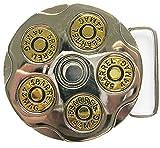 New Gun Bullet Round Spinning Spinner Belt Buckle also Stock in US