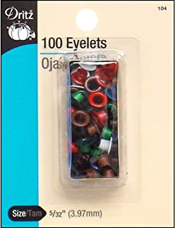 Dritz 104-1 Eyelets 5-32 in. 100-Pkg-Assorted Colors