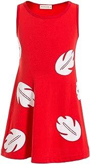 Lilo Hawaiian Dress Inspired Sleeveless Dress Lilo Princess Dresses for Girls Toddler
