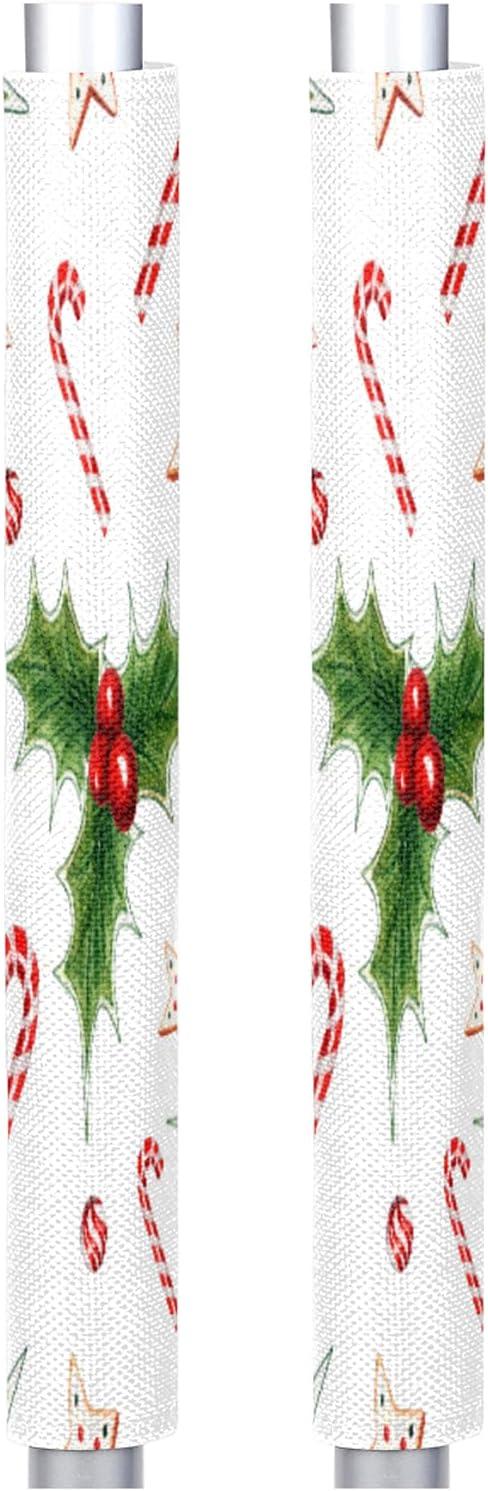 Refrigerator Door Handle Covers, Happy Christmas Set of 2 Washab