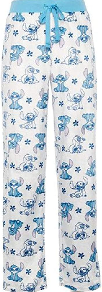 Briefly Stated Women's Lilo and Stitch Sueded Fleece Lounge Sleep Pants, (Size Medium, Aqua)