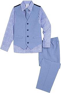Van Heusen Boys 4-Piece Formal Dresswear Vest Set Long Sleeve Business Suit Vest