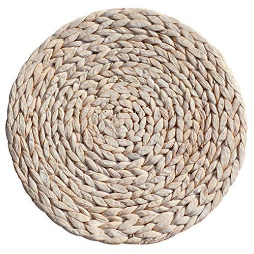 EME Sottopiatto di giacinto naturale con tinta in colore bianco tovaglietta in vimini. Realizzato a mano. Diametro: 35 cm. Contenuto: 24 pezzi.
