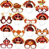 Joyin Thanksgiving Turkey Eyeglasses and Headbands Accessories Include 8 glasses in 4 different designs and 8 headbands featuring in 8 designs Thanksgiving Turkey glasses frames and Thanksgiving Headbands have superior quality. These photo booth acce...