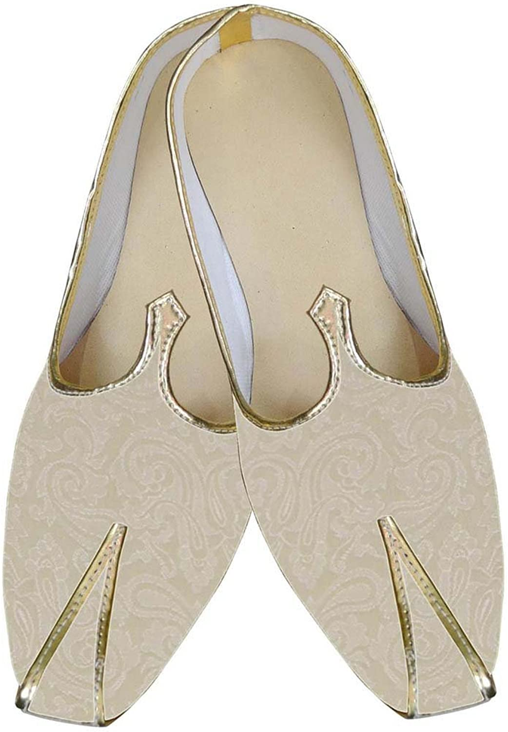 INMONARCH Mens Ivory Wedding shoes Partywear MJ0030