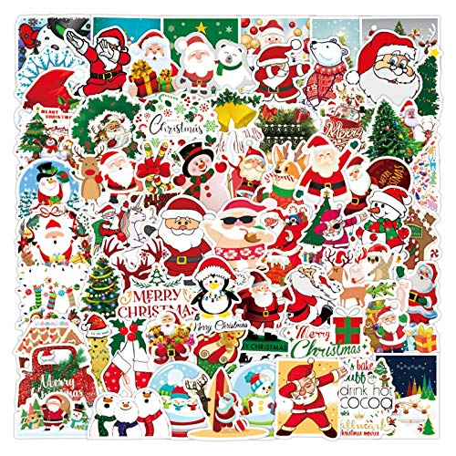 2020 Christmas Personalized Decoration Graffiti Sticker,100 Pieces Strickers Christmas Sticker Pack for Kids,Waterproof & No Glue Left
