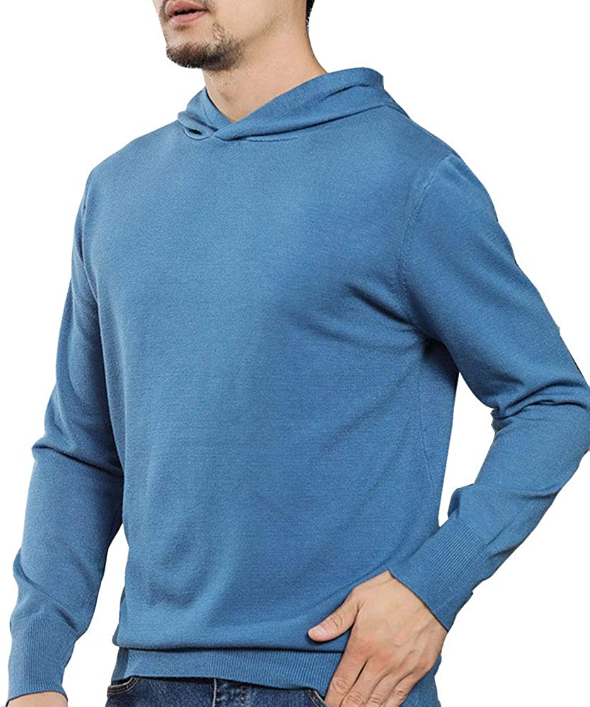 Virginia Beach Mall EVEDESIGN Men's Casual Warm Cashmere Basic Hoodie Super popular specialty store Fa Winter Knit