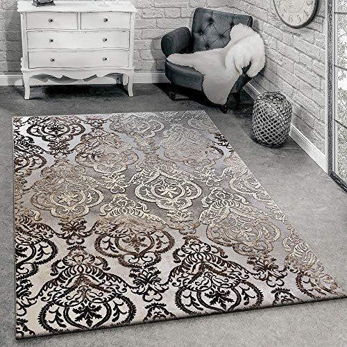 Designervloerkleed Moderne Ornamenten Vloerkleed Woonkamer Patroon Grijs Gemêleerd, Maat:200x290 cm