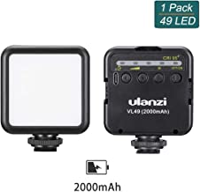 ULANZI VL49 Pocket Led Video Light, Camera Hot Shoe Video Light Battery Powered 2000mAh Phone Fill Light w Cold Shoe Compatible with Vlog Camera iPhone DJI Osmo Pocket Osmo Action Gopro Hero 8/7/6/5