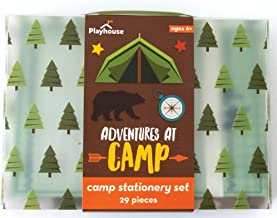 Playhouse 28-Piece Adventures at Camp Stationery Tote Set for Kids