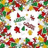 Weihnachten Konfetti Tischdeko Weihnachten Merry Christmas Weihnachtsmann Rentier Schneeflocke Weihnachtsbaum Konfetti für Weihnachten Party Dekoration