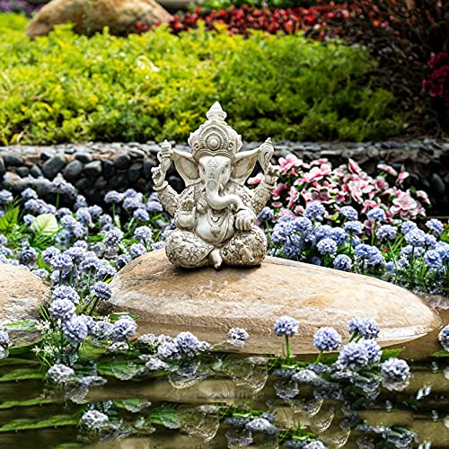 Pevfeciy Ganesha Figura Elefantes Decoracion Figuras de Budas Decorativos,Decoracion Mesa Comedor y Escritorio,Grandes de JardíN Zen Decorativas,30cm/12 Pulgada,1.7kg,Resi