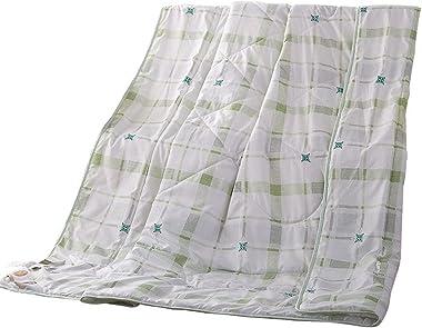 NATURETY Thin Comforter for Summer,Printed Bed Quilt Light Duvet Insert Quilts (Queen/Full, Green)