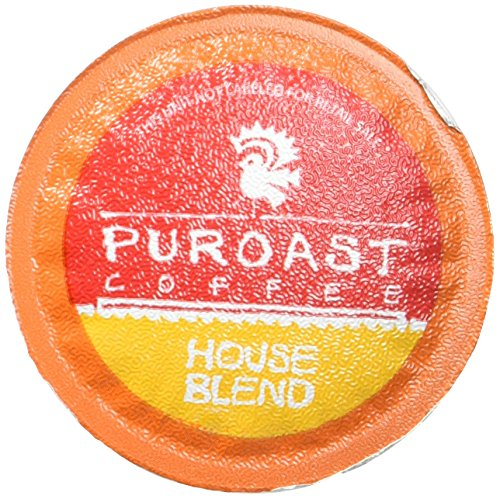 Puroast Low Acid Coffee Single-Serve Pods, House Blend, High Antioxidant, Compatible with Keurig 2.0 Coffee Makers (12 Count)