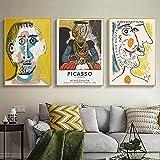 RuiChuangKeJi Carteles de Arte 3 Piezas 60x80 cm sin Marco Arte Famoso Abstracto Pablo Picasso Carteles e Impresiones Sala de Estar decoración de Pared Cuadros Cuadros de Arte de Pared