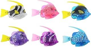 Tipmant Mini Cute Electric Fish Animal Pets Goldfish Swim in Water Tank, Bathtub, Pool with Light Baby Bathtub Toys Kids Gift - 6 Pcs/Pack