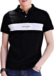 [ SmaidsxSmile(スマイズ スマイル) ] ポロシャツ トップス 半袖 Tシャツ 襟 カットソー ライン ロゴ シンプル メンズ