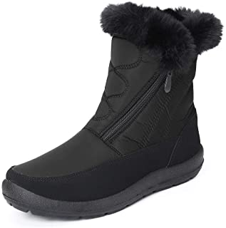 gracosy Snow Boots for Women Men, Warm Ankle Boots Waterproof Outdoor Slip On Fur Lined Winter Short Booties Anti-Slip Com...