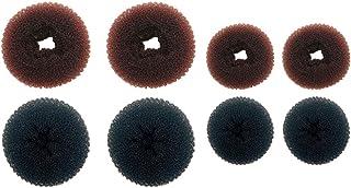Lurrose — 8 peças para fazer coque de cabelo, donuts, coque, anel, modelador, cabelo, rosquinha, acessórios para cabelo fe...