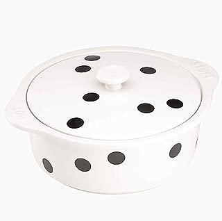 Kate Spade New York 872477 Deco Dot covered casserole, White