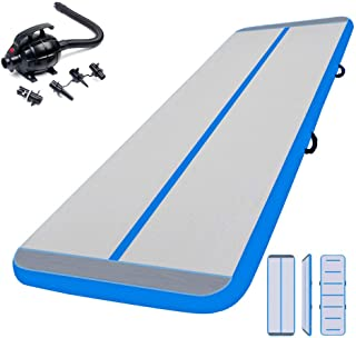 3M Esterilla Hinchable Air Floor Track para Gimnasia con Bomba de Aire Eléctrica. Pista de Aire Inflable Tumbling Alfombrillas-Colchonetas Volteretas para de Aterrizaje, de Ejercicio, de Entrenamiento