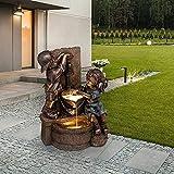 wastreake Boy & Girl Garden Statues, Outdoor Yard Art Decoration, Sculpture for Yard Garden Patio Deck Home