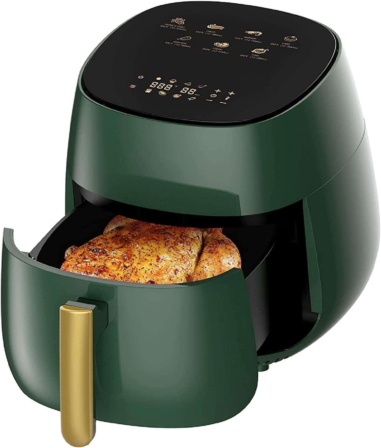 Air Fryer, 4.8QT Airfryers 7-in-1 Hot Oven Oilless, 1400W Digital Touchscreen Air Frier Cookers with Nonstick Basket & Recipe Book