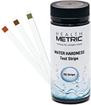 Premium Water Hardness Test Kit - Quick and Easy Hard Water Test Strips for Water Softener Dishwasher Well Spa and Pool Water | 50 Tester Strips at 0-425 ppm | Calcium and Magnesium Total Hardness