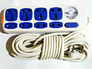 Horoly 8 Way Port Buster Multi Pin Socket Surge Spike Protector Indicator with 10 M Long Cable
