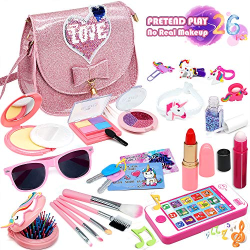 top toys for children in 2021 ENJOYBOT Kids Pretend Makeup Toy Grils - 2021 Newest 26Pcs Kids Makeup Kit for Girls ,Fake Makeup Toy Girl Gifts,Kids Play Pretend Makeup Set , Best Girl Gifts for 3/4/5/6/7year