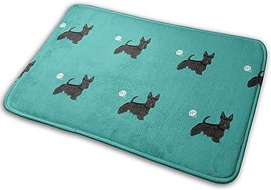 Scottie Funny Dog Fart Pets Pure Breed Dogs Teal_24008 Doormat Entrance Mat Floor Mat Rug Indoor/Outdoor/Front Door/Bathroom